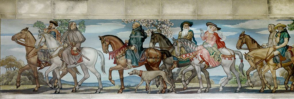 character analyzation in the canterbury tales by geoffrey chaucer Geoffrey chaucer introduces readers of the canterbury tales to an assortment of characters, each with their own unique and notable features aside from the.